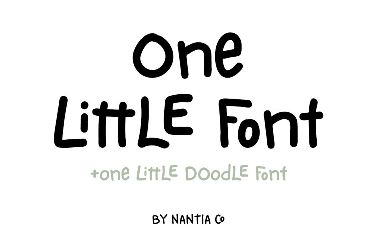 One Little Font example image 1