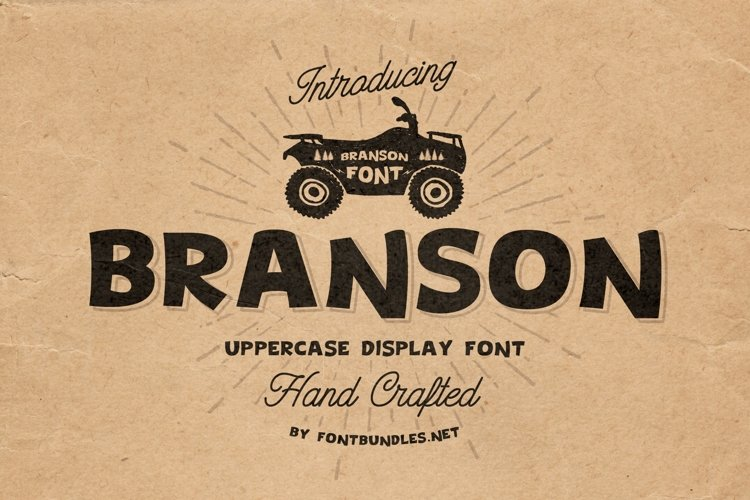 Web Font Branson example image 1