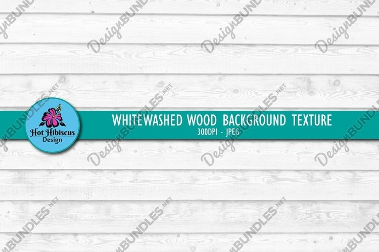 Weathered White Wood Texture Background Digital Paper example image 1