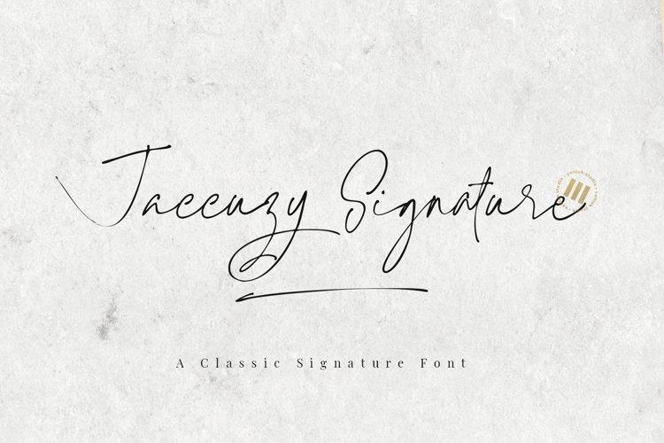 Jaccuzy Signature - A Signature Font example image 1