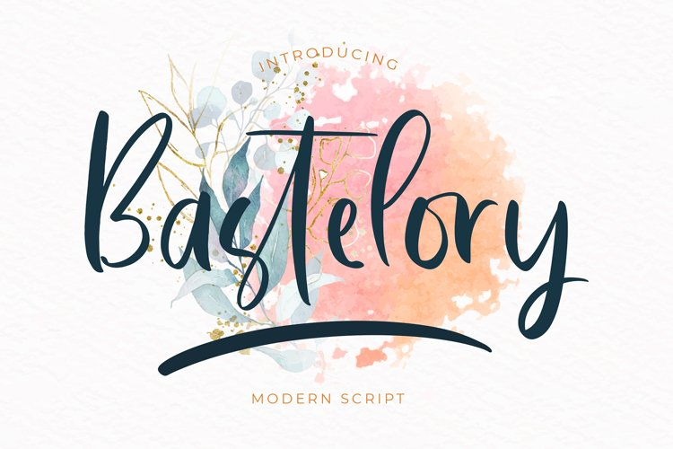Bastelory Modern Script Font example image 1