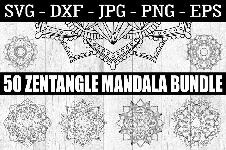 Mandala SVG - 50 Zentangle Mandala SVG EPS PNG Zentangle SVG