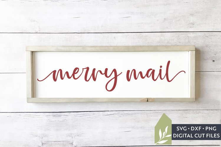 Merry Mail SVG Files, Christmas SVG example image 1