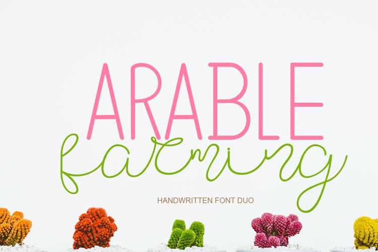 Arable Farming Font Duo example image 1