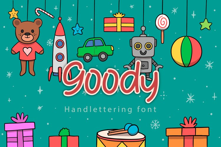 Goody - Handwritting font example image 1