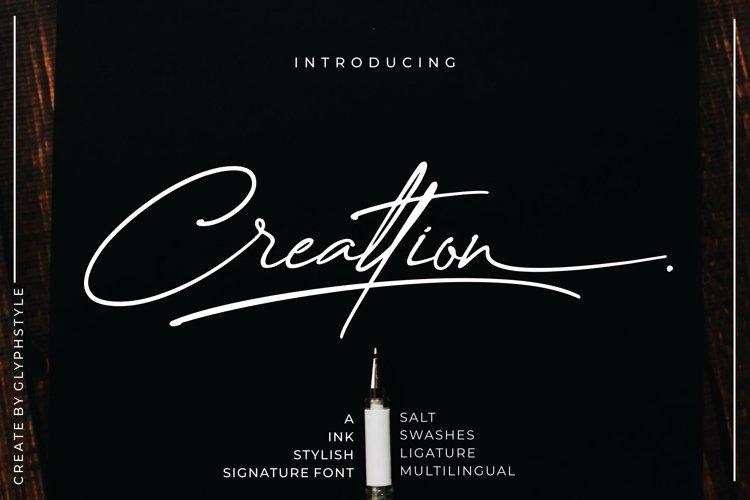 Creattion - a Ink Stylish Signature Font example image 1