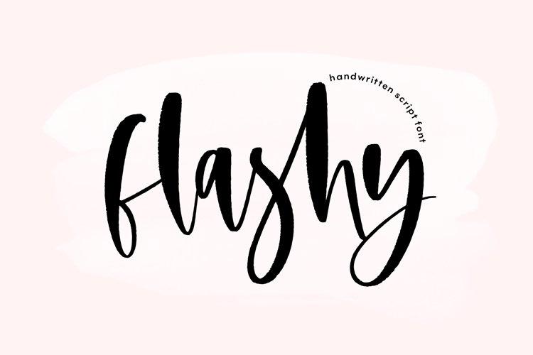 Flashy - A Handwritten Script Font example image 1