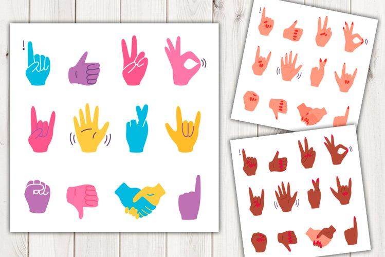 Vector cartoon hand gestures example image 1