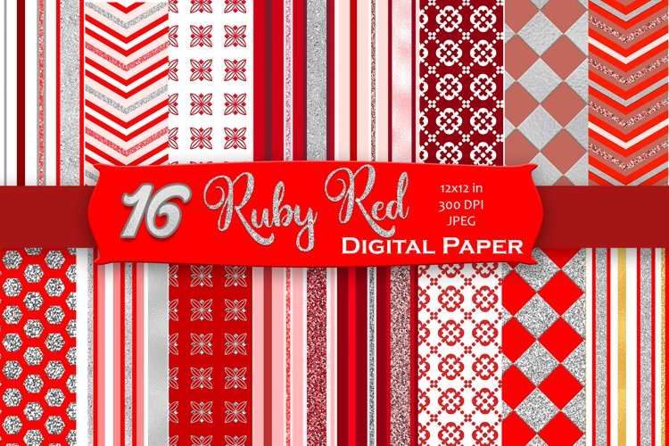 Brilliant Ruby Digital Paper example image 1