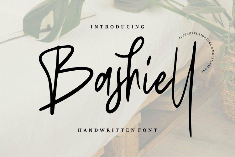 Web Font Bashiel - Handwritten Font example image 1