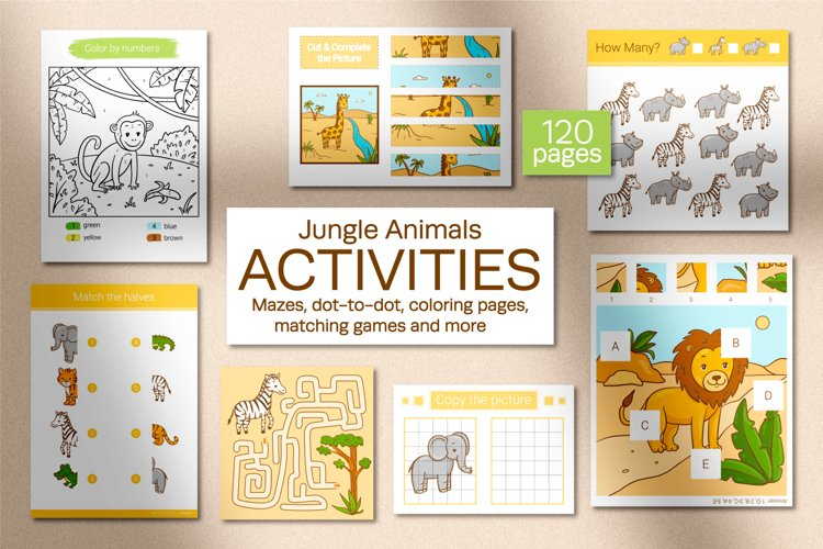 Jungle Animals Activities for kids.