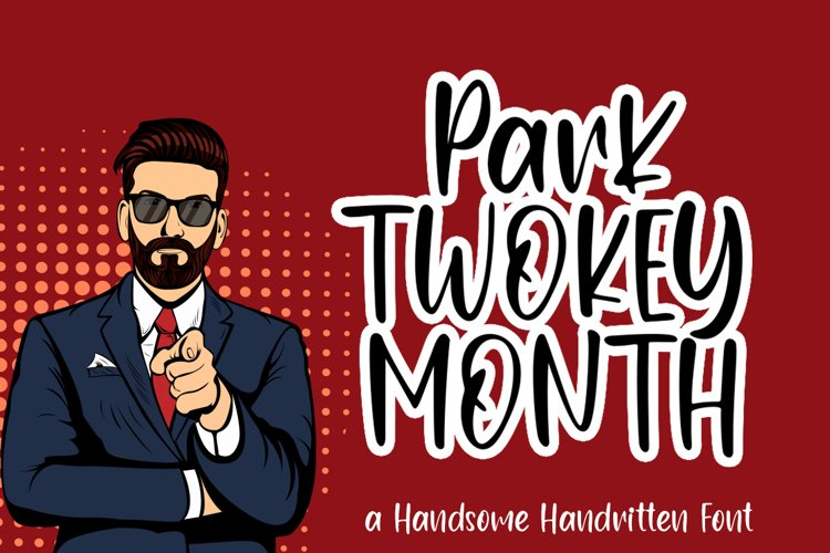 Park Twokeymonth / Handsome Handwritten Font example image 1