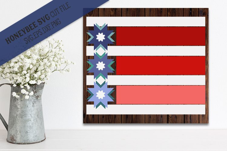 Stars and Stripes Modern Barn Quilt example image 1