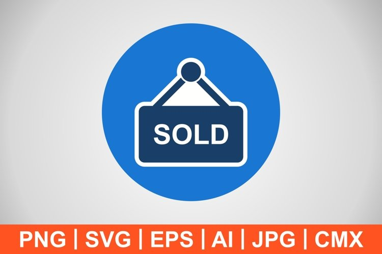 Vector Sold Icon example image 1