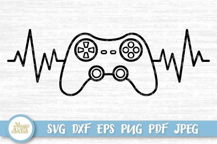 Game controller svg, Gamer svg, Heartbeat svg file, example image 1