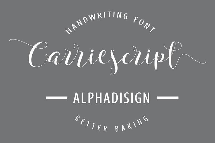 Carriescript Fonts ScriptExtrasSans