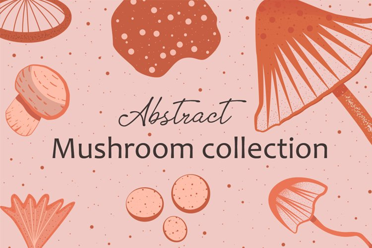 Abstract mushroom collection