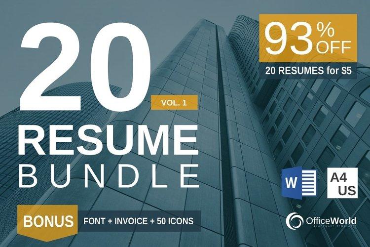 20 Resume Template Bundle