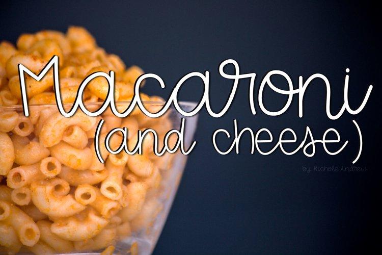 Macaroni And Cheese Script