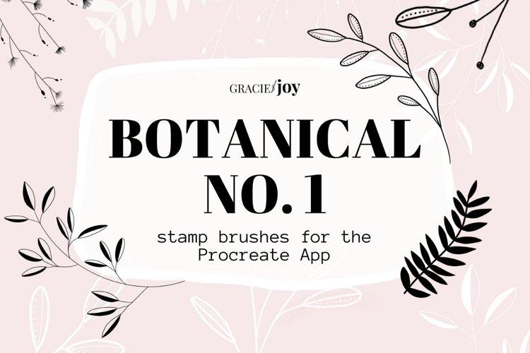 Botanical Procreate Stamp Brush example image 1