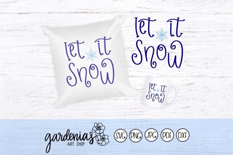 Let it Snow Twirly Font example image 1