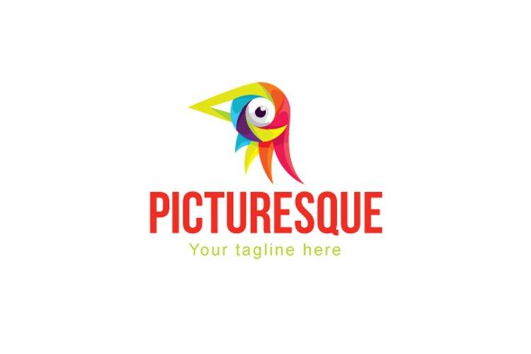 Picturesque - Colourful Bird Eye Stock Logo Template example image 1