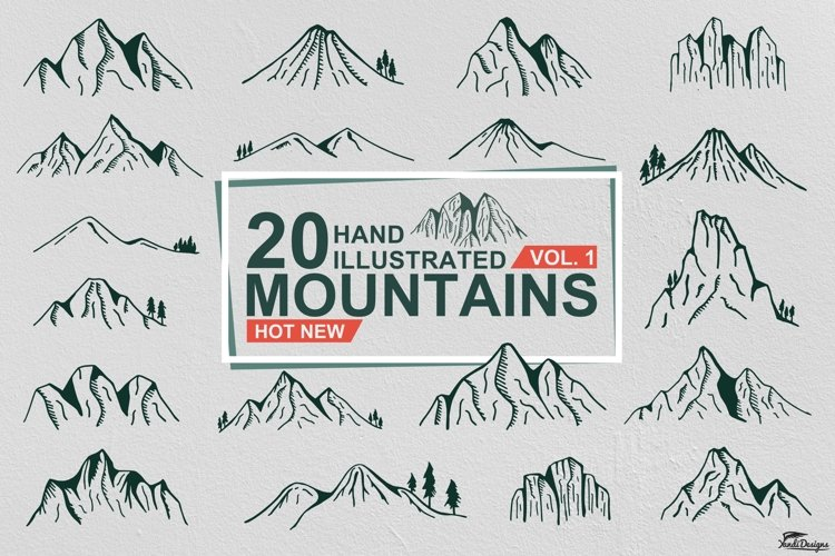 Hand Illustrated Mountain Vol. 1 example image 1