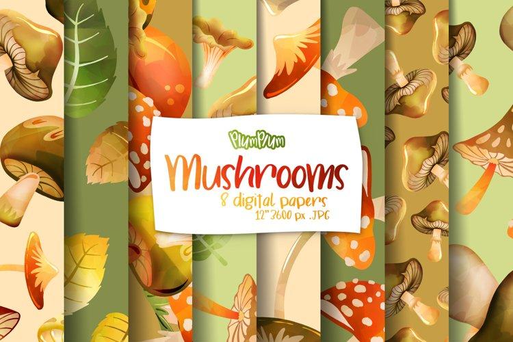 Mushroom Digital Papers example image 1