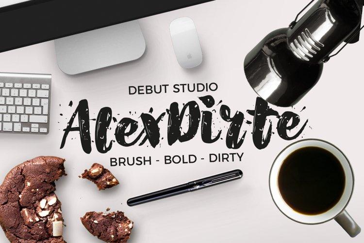 AlexDirte Brush Font example image 1