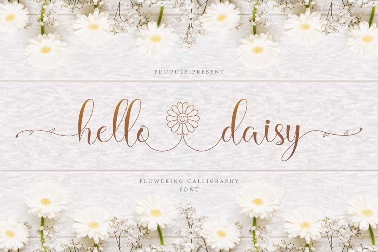 Hello Daisy - Flower Script Font example image 1