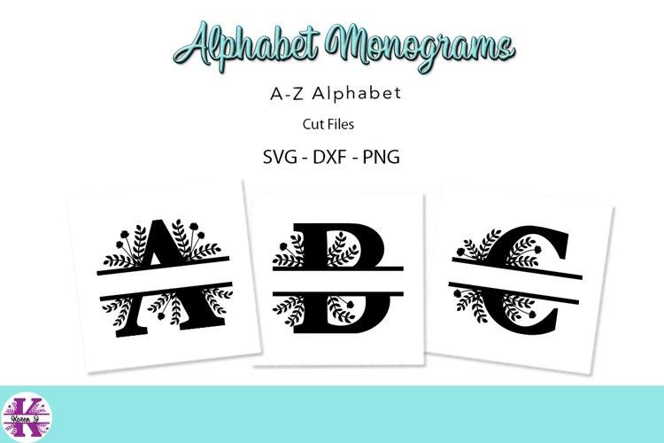 Split Alphabet Monograms - SVG DXF PNG