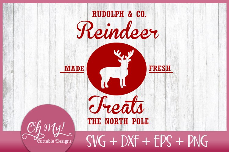 Reindeer Treats Christmas SVG EPS DXF PNG example image 1
