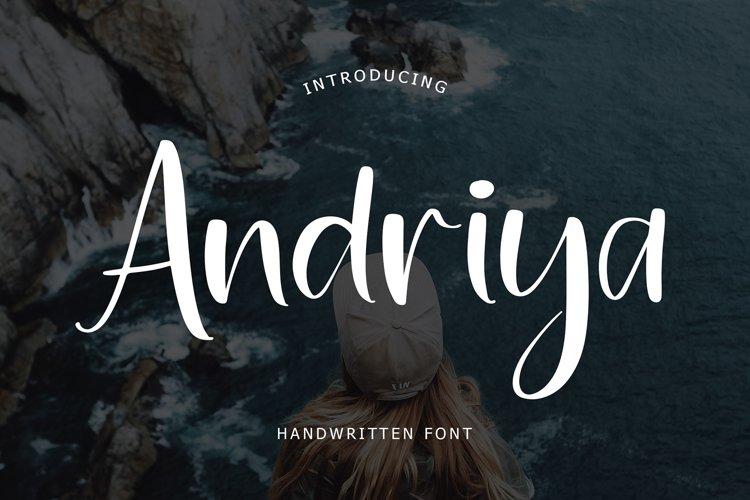 Andriya Handwritten Font example image 1