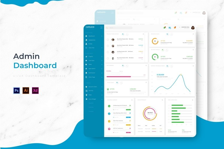 Capslek Dashboard | Admin Template example image 1