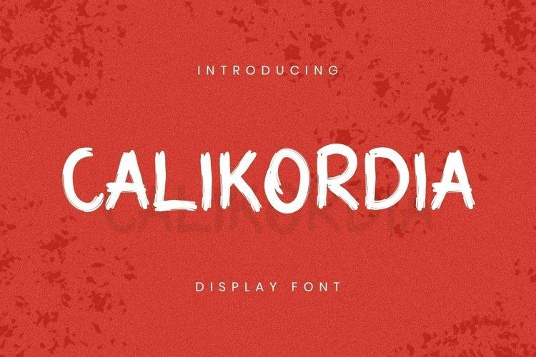 Web Font Calikordia Font example image 1