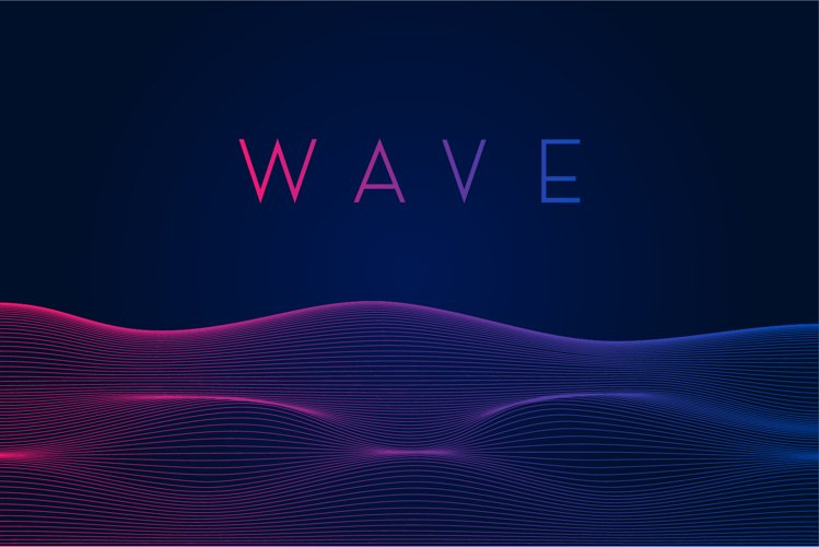 Dynamic line wave abstract background. Vector illustration example image 1