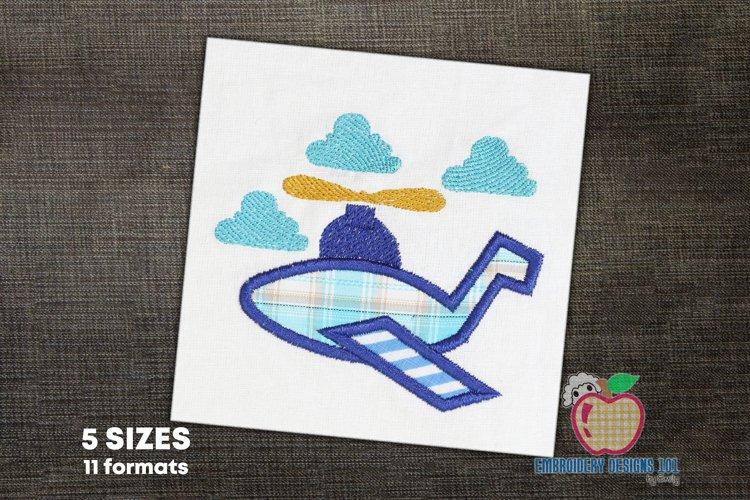 Aeroplane Embroidery Applique Designs example image 1