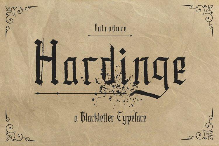 Hardinge - Blackletter Typeface example image 1