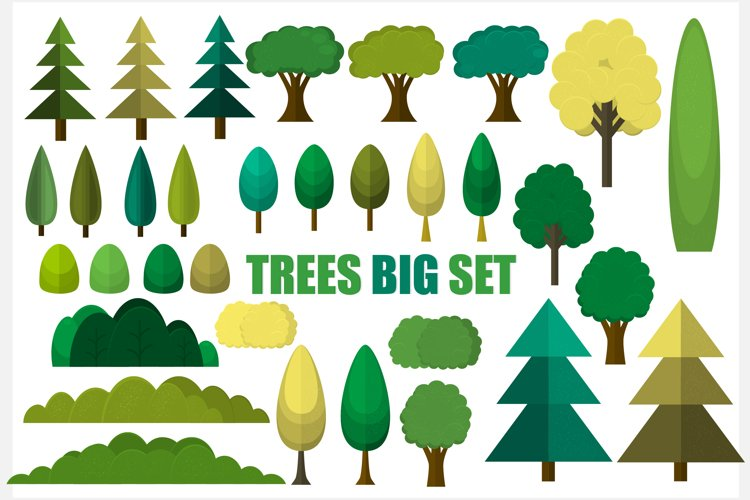 Set of trees example image 1