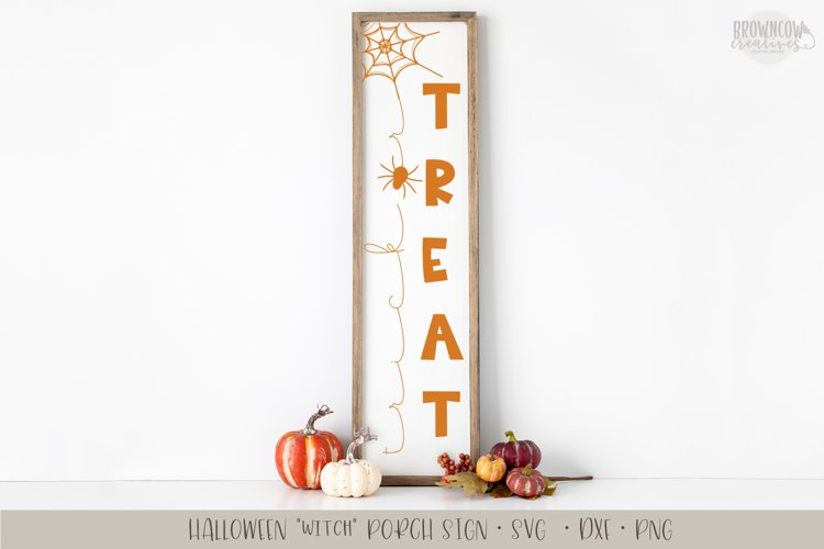 Trick or Treat Vertical Porch Sign SVG example image 1