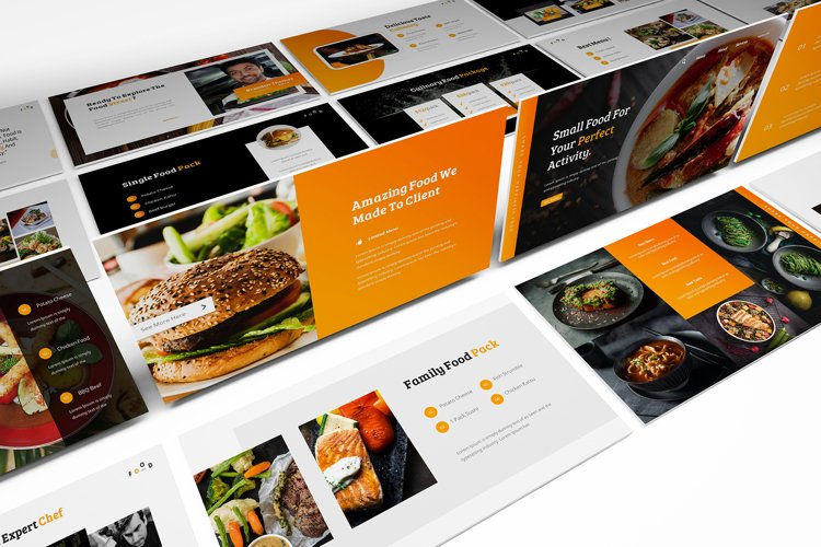 Street Food Powerpoint Template example image 1
