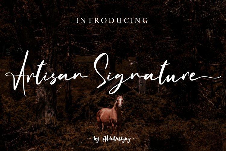 Artisan Signature // Business Signature Style - WEB FONT example image 1