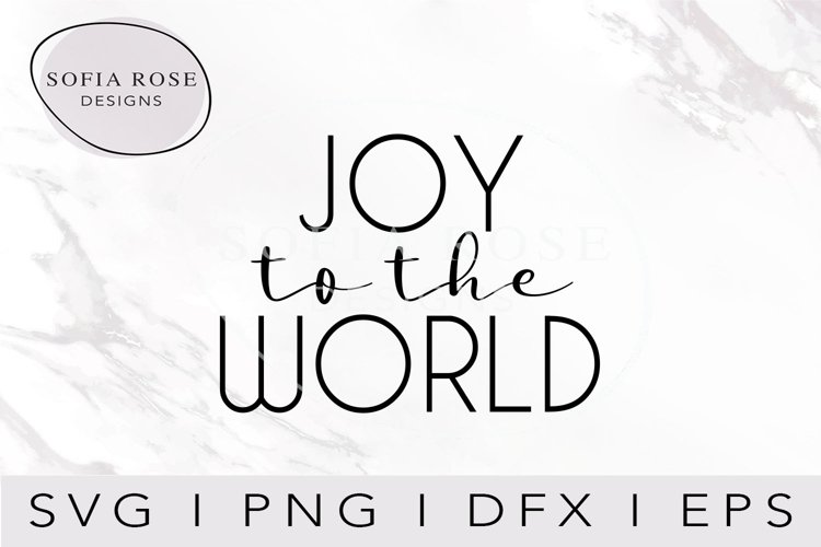 JOY to the WORLD SVG-Christmas SVG-Holiday SVG-Clip Art example image 1
