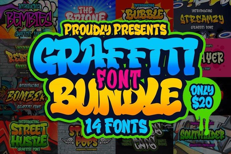 Graffiti Font Bundle example image 1
