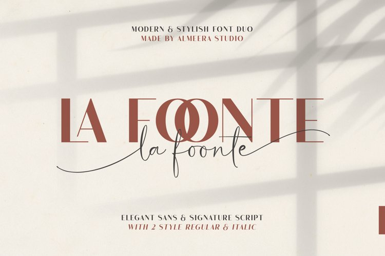 La Foonte | Sans Script Font Duo example image 1