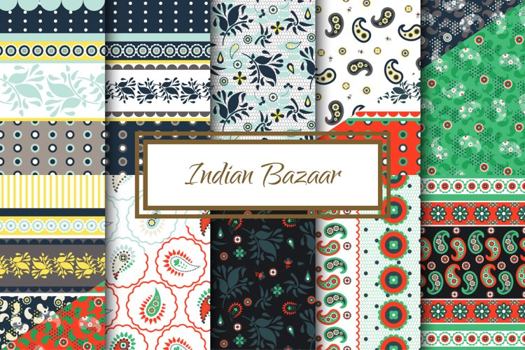 Indian Bazaar Seamless Patterns example image 1