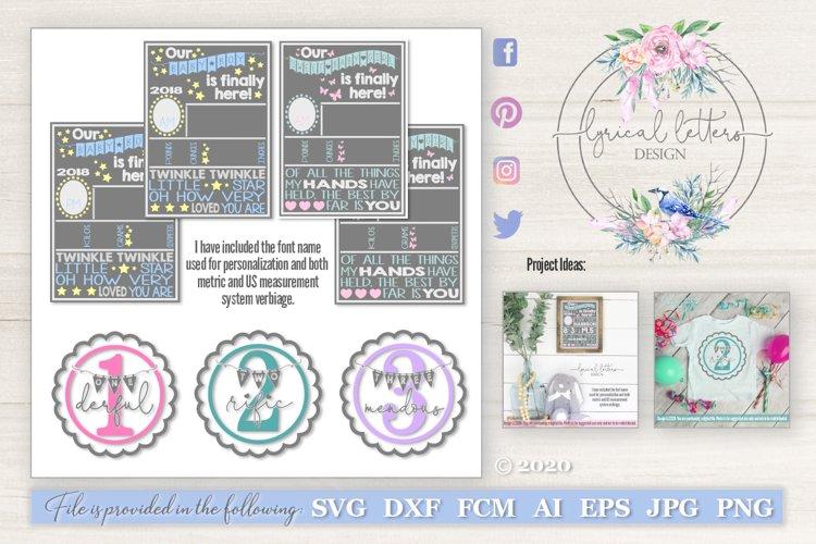 Birth Stats SVG Birthday Bundle of 5 SVG Cut Files LL222