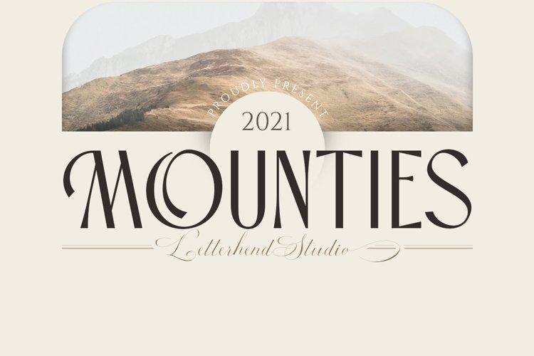 MOUNTIES - Display font example image 1