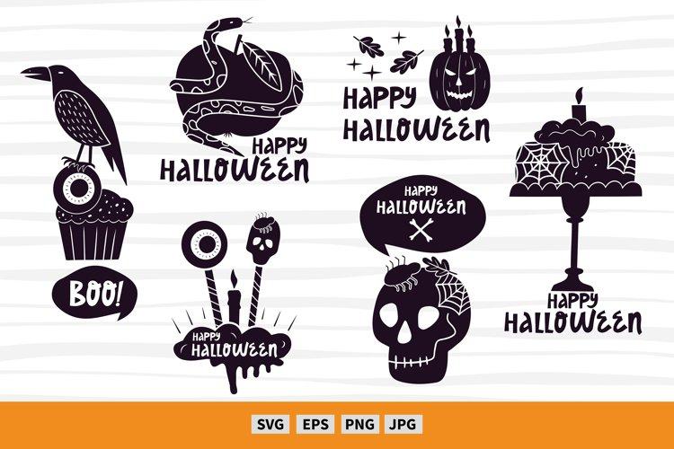 6 Halloween craft designs. Halloween art svg. Vector clipart example image 1