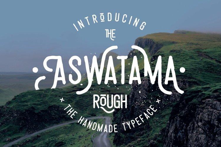 Web Font Aswatama Rough example image 1